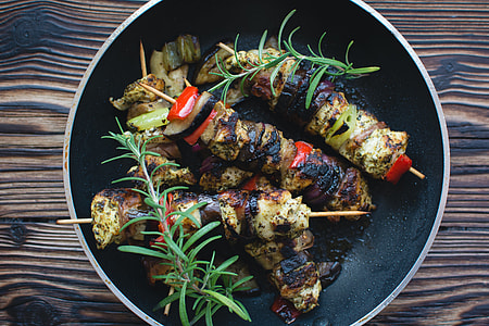 Chicken Skewers in a Pan
