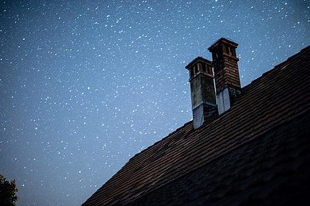 Nightsky with roof
