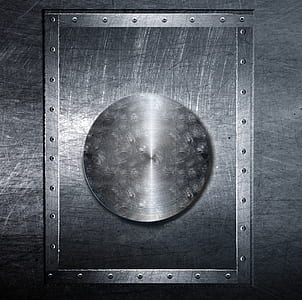 rectangular gray metal frame