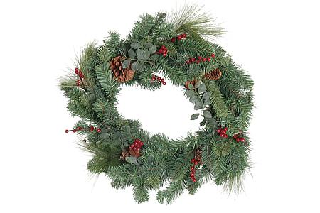 green garland wreath