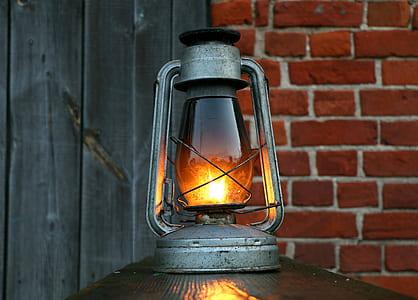 gray tubular lantern