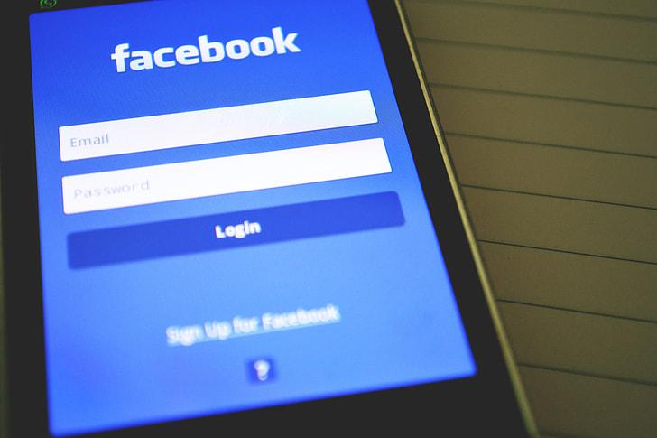 Facebook social media on mobile smartphone