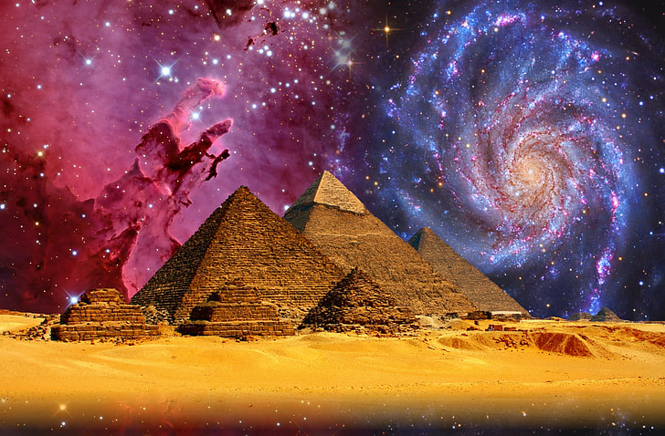 brown pyramid illustration