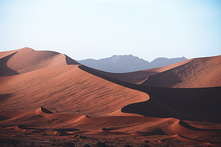 Sand dunes in the desert in Namibia, Africa