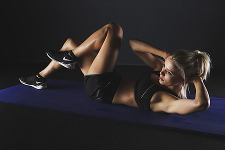 Woman doing workout and exercise in the gym