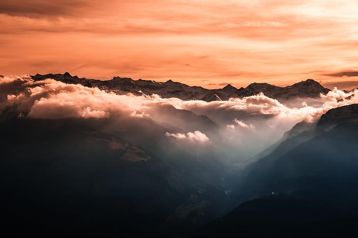 mountain landscape clouds
