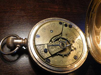 open silver pocket watch