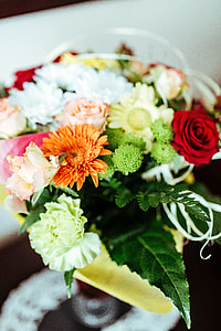 Flowers arranged in a beautiful bouquet