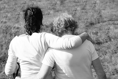 mother, daughter, together, loss, joy, embrace