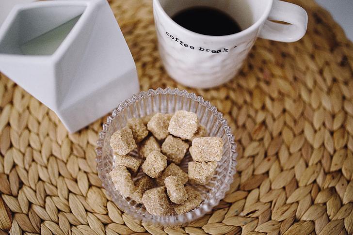 Sweet dessert with coffee