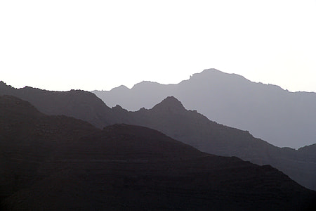 photo of silhouette mountains