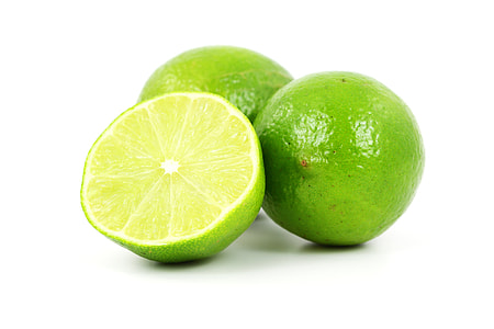 green lemon fruits