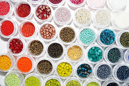 multicolored beads lot