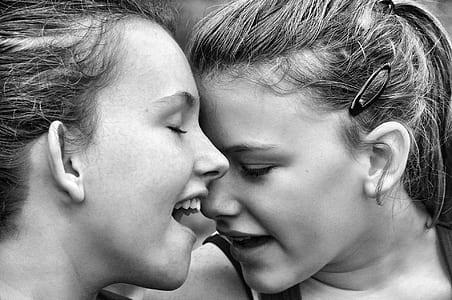 Black And White Photo Of Women