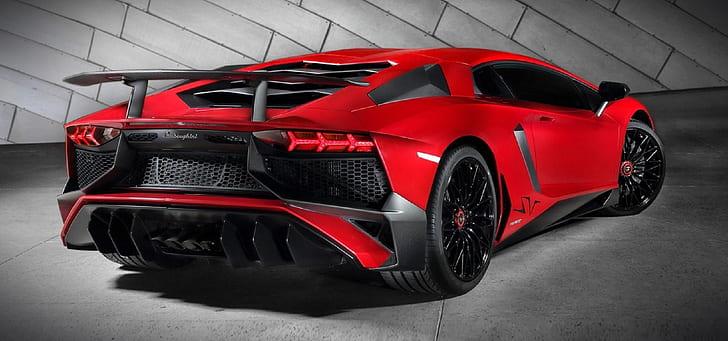 red Lamborghini sports coupe