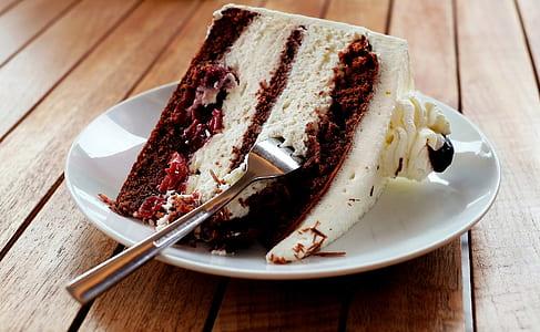 chocolate shortcake on plate