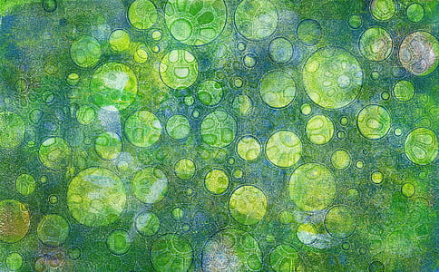 green polka dot painting