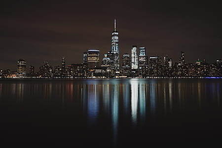 Panorama of a City during Night Time