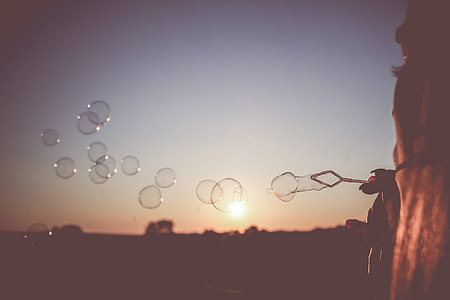 Sunset Bubbles
