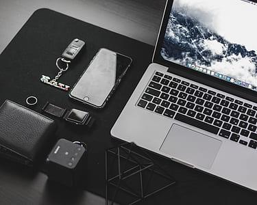 laptop, computer, macbook, desk, office