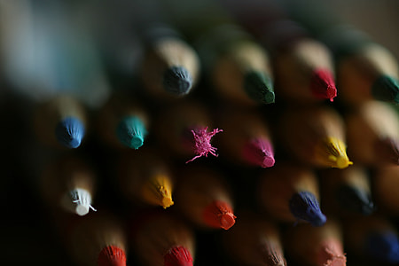 Closeup shot of art pencils