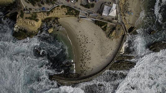 aerial photo of ocean