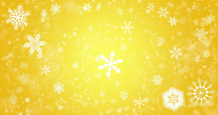 snowflake illustration with yellow background