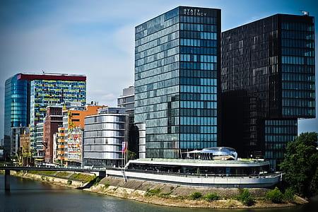 Grey Concrete High Building