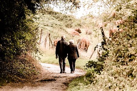 couple walking on street during daytime