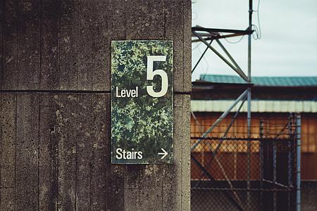 Level 5 Stairs signage