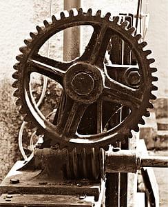 black industrial machine