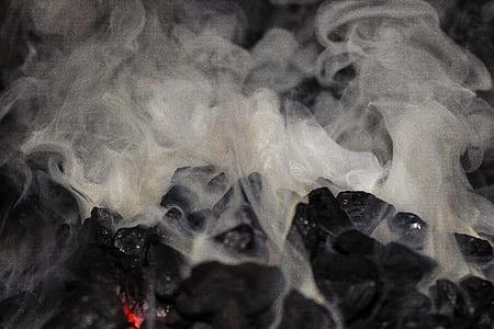 white and gray smokes
