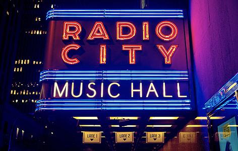 Radio City Music Hall neon signage