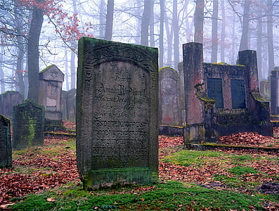 lined tombstones