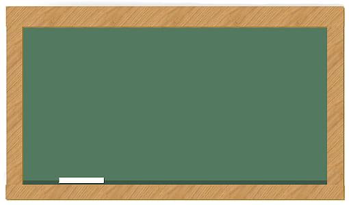 rectangular green board on brown background