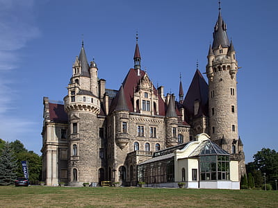 castle with towers