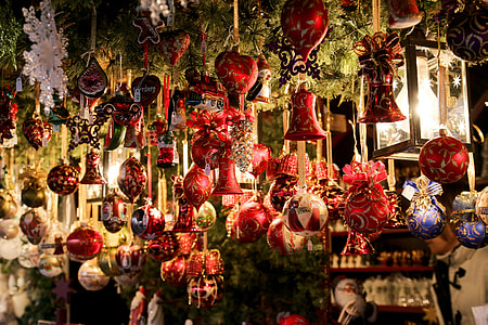 photo of Christmas tree hanging ornaments