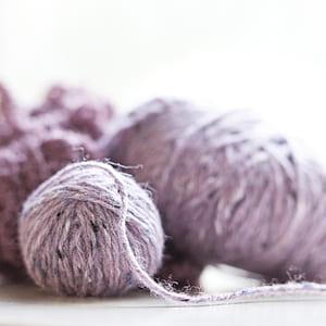 photo of purple yarn