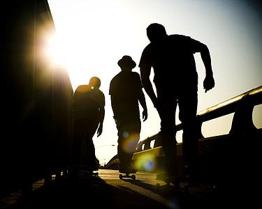 Silhouette Skaters Skateboard