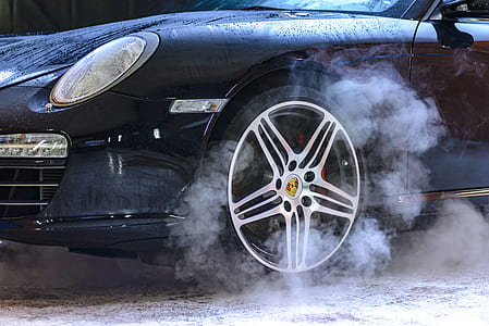 photo of black sport car