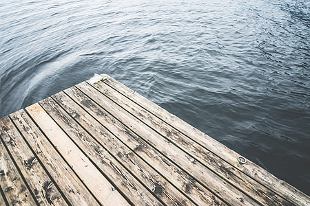 Minimalistic Shot of a Wooden Pier on a Lake