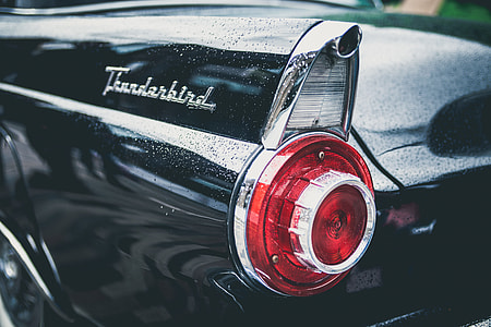 closeup photography, car, tail light, automobile, close-up, vehicle
