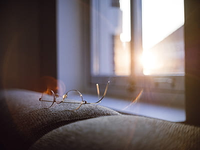 eyeglasses with silver frames