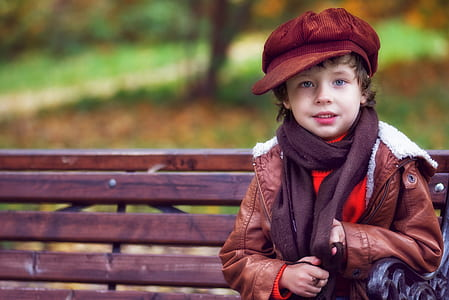 children's brown leather jacket