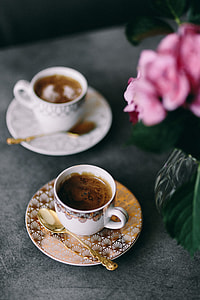 Coffee in the beautiful cups