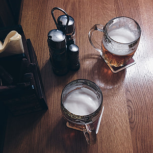 Beer in a pub