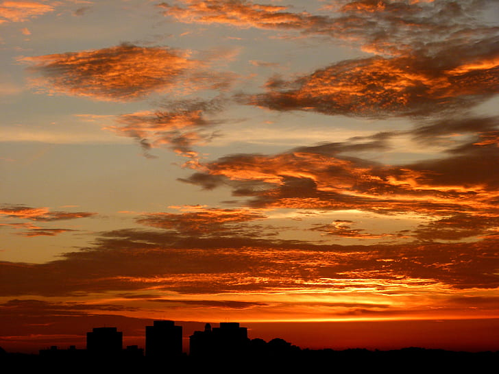 Orange Sky during Dawn
