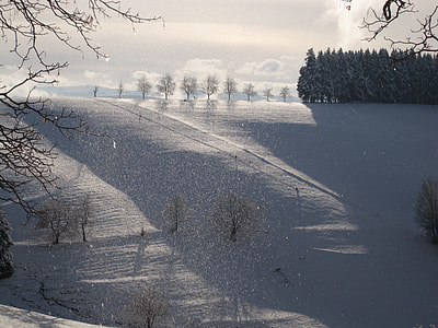 aerial photography of hill covered with snow during daytime