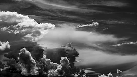 white cloudy sky illustration