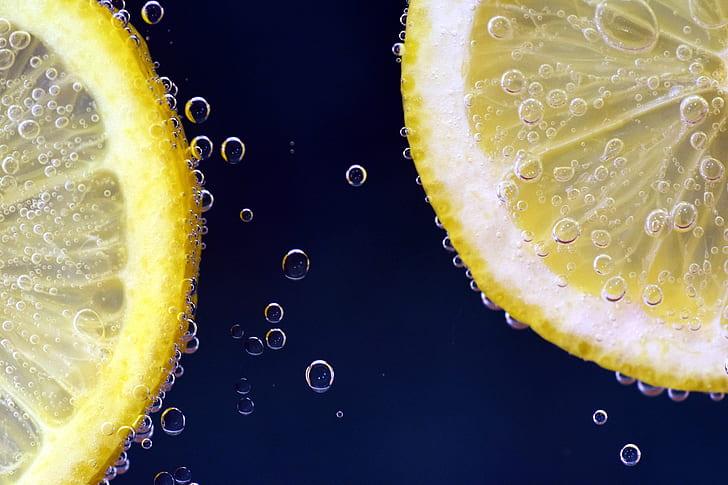 two sliced lemons